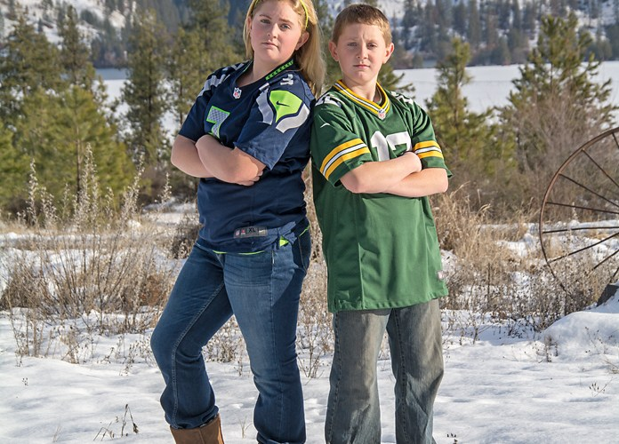 Madison & Colby Tareski ~ Seahawks vs Packers