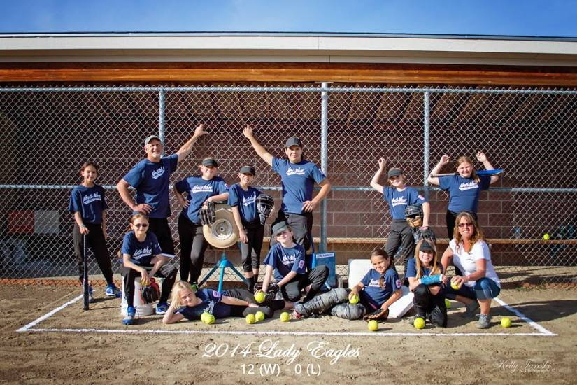 Monte and Kelly Tareski Coaching Softball