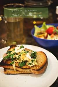 Quick Dinners | Spinach Scrambled Eggs Recipe or Palak Anda Bhurji