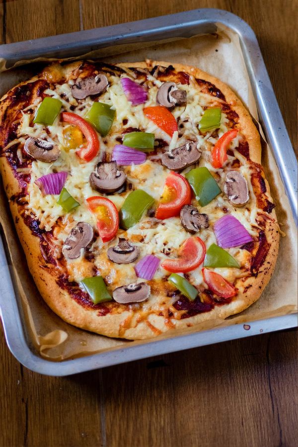Whole wheat pizza homemade