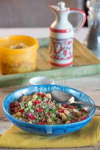 Millet Salad with chickpeas and Pomegranate | Summer Salads