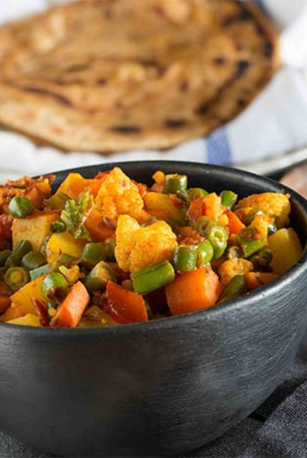 Mixed vegetable sabzi or mixed vegetable curry is simple home style punjabi curry to serve with Roti and paratha. Recipe of mixed vegetable sabzi is very simple but it makes for a very hearty curry, especially in winters, when we get very good fresh produce in North India