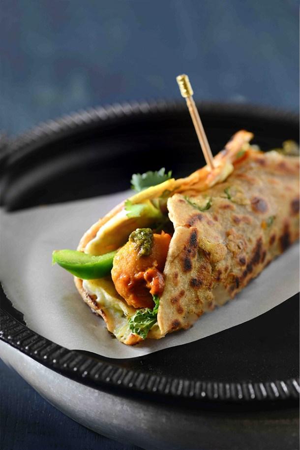 Vegetarian Kolkatta Kathi roll