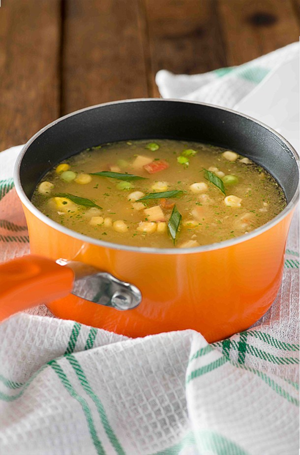 Sweet corn vegetable soup is popular soup recipe from Indo Chinese cuisine. This soup is prepared with fresh sweet corn and lots of vegetables. One of the easy to cook soup recipe sweet corn soup is flavourful and packed with healthy vegetables.
