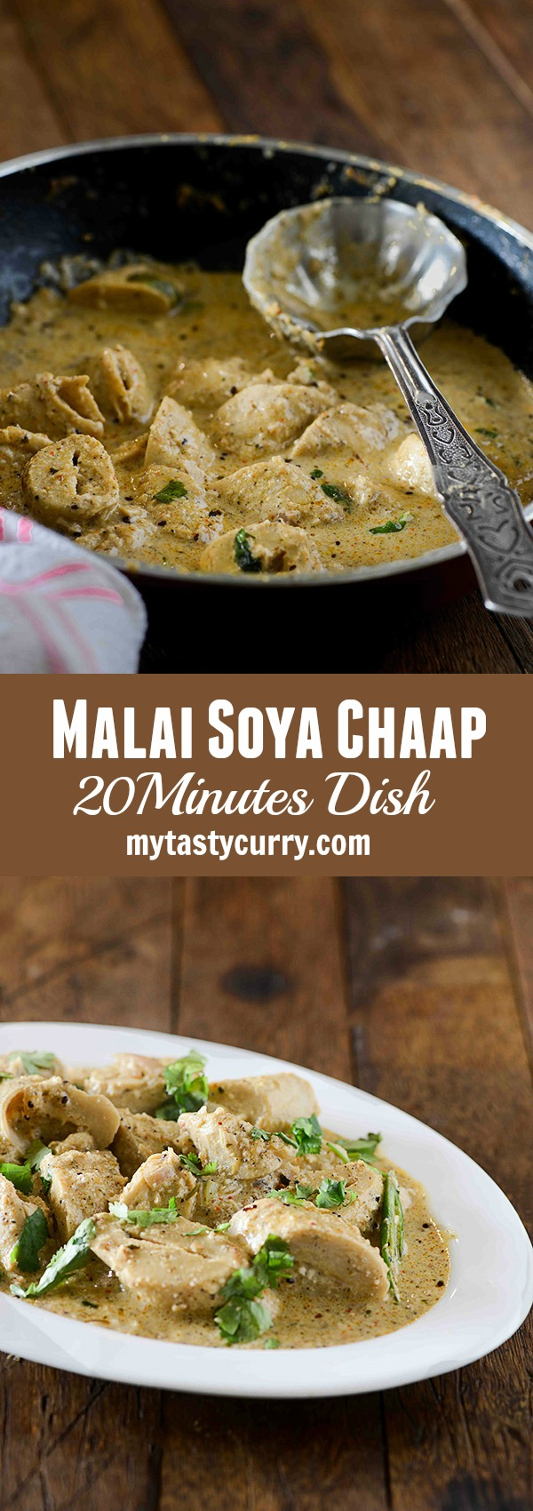 how to make soya chaap curry