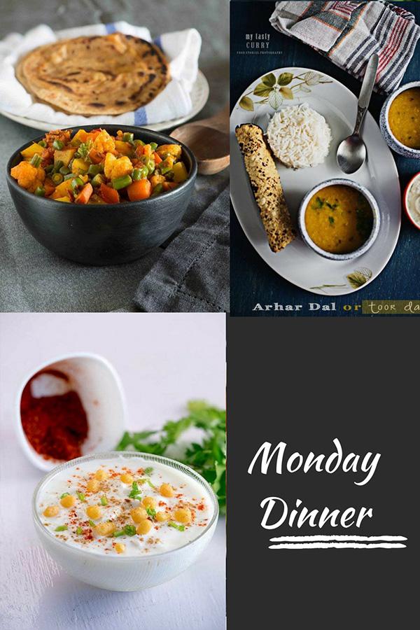 Indischer Mahlzeitplan mit Rezepten