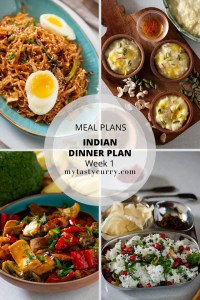 Indian Meal Plan Week 1 – Dinners