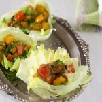 Lettuce and tofu wraps are hearty filling and low carb, low gi, vegan and healthy meal that takes 20 minutes to make. If you are trying to eat healthily and looking for more vegetarian options these spicy tofu wraps should be totally in your recipe repertoire.