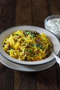 Rajma Pulav Recipe – Indian rajma pulao – Kidney Beans Pulao