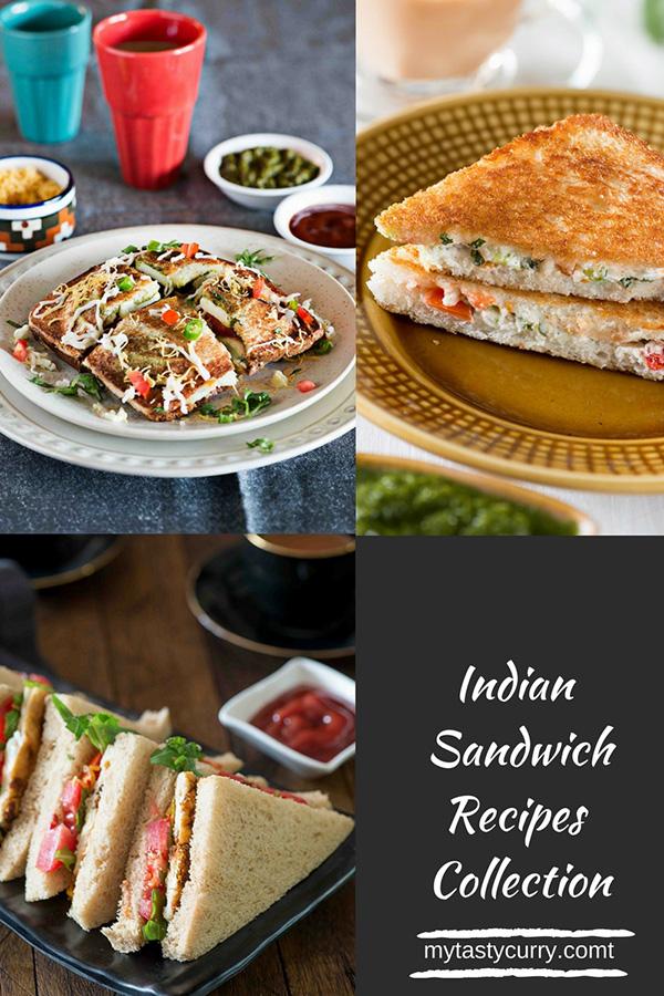 Sandwich Recipes 5 Easy Indian Sandwich Ideas My Tasty Curry