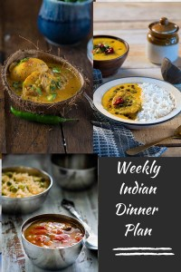 Indian Meal Plan Week 2- Dinners