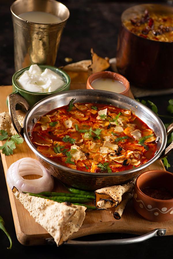 Rajasthani Papad Ki Sabzi Recipe My Tasty Curry