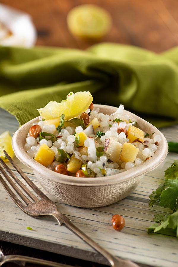 Sabudana khichdi recipe for navratri fasting. Falahari sabudana recipe with tips to make non sticky sabudana khichdi. Maharashtrian style sabudana khichdi recipe in Hindi