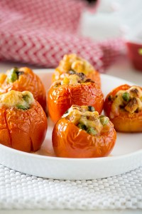 Stuffed Tomato in Microwave – Microwave Cooking LG Charcoal Oven