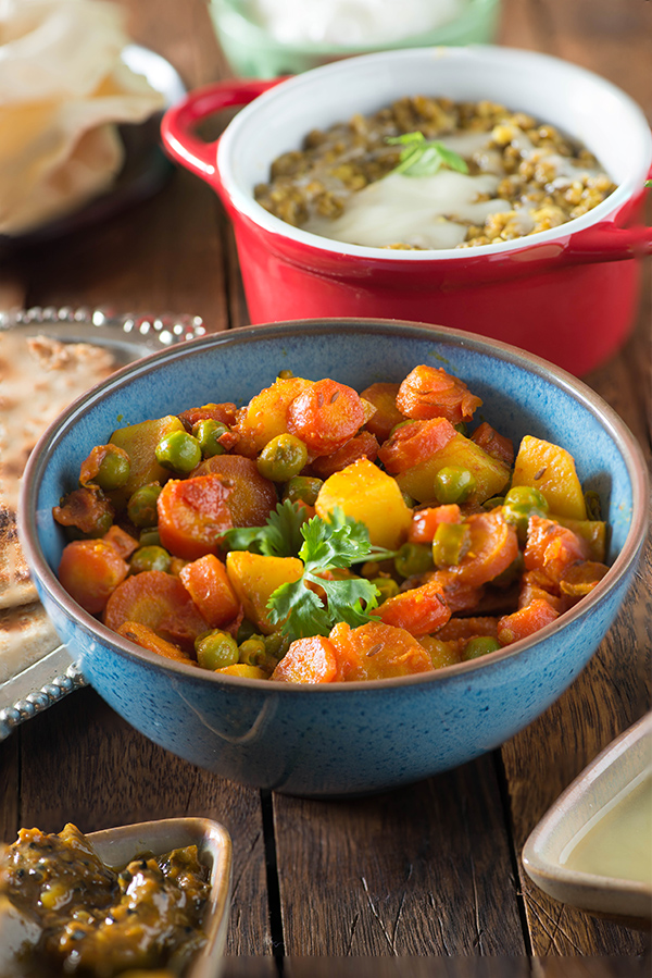 No onion no garlic curry archives my tasty curry aloo gajar matar recipe without onion and garlic this is a punjabi style dry sabzi forumfinder Image collections