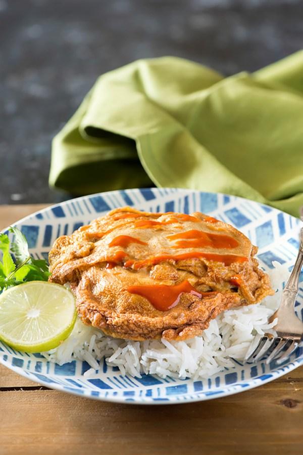 Thai Omelet Recipe - Kai Jiew or Khai Jiao Recipe - My ...