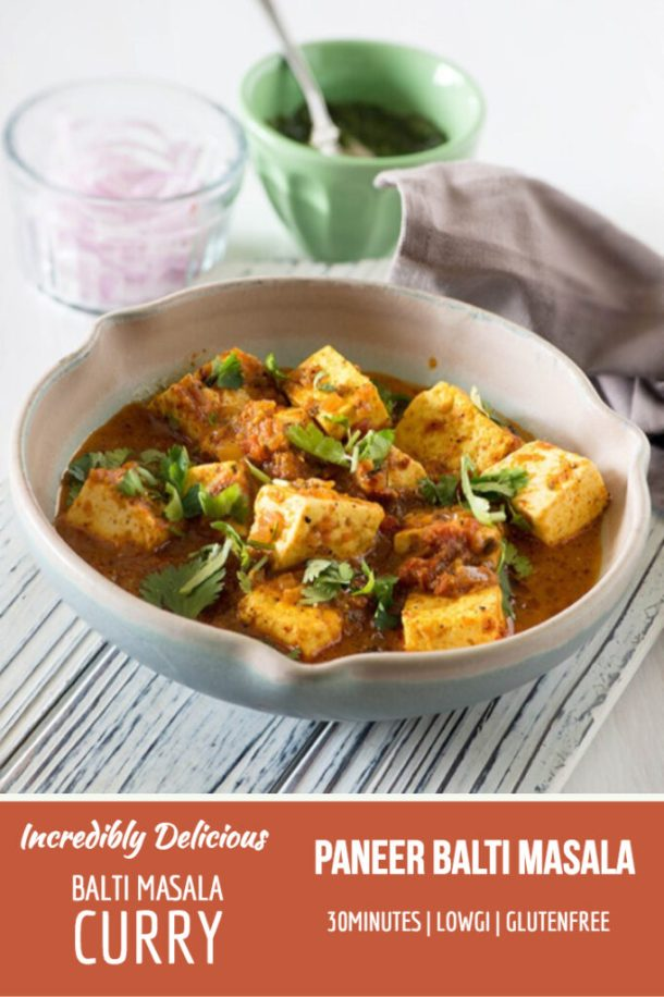 Creamy Paneer Indian Cottage cheese in a Mildly spiced British curry. #LowGI #Glutenfree #30Minutes recipe by @rekhakakkar