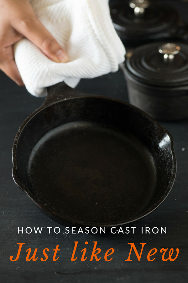 how to season cast iron skillet