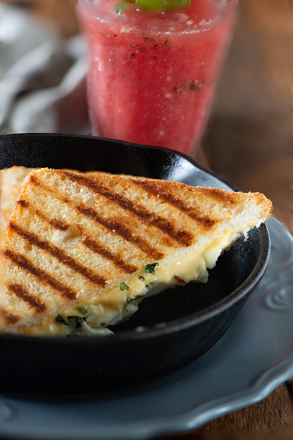 Grilled sandwich egg and cheese