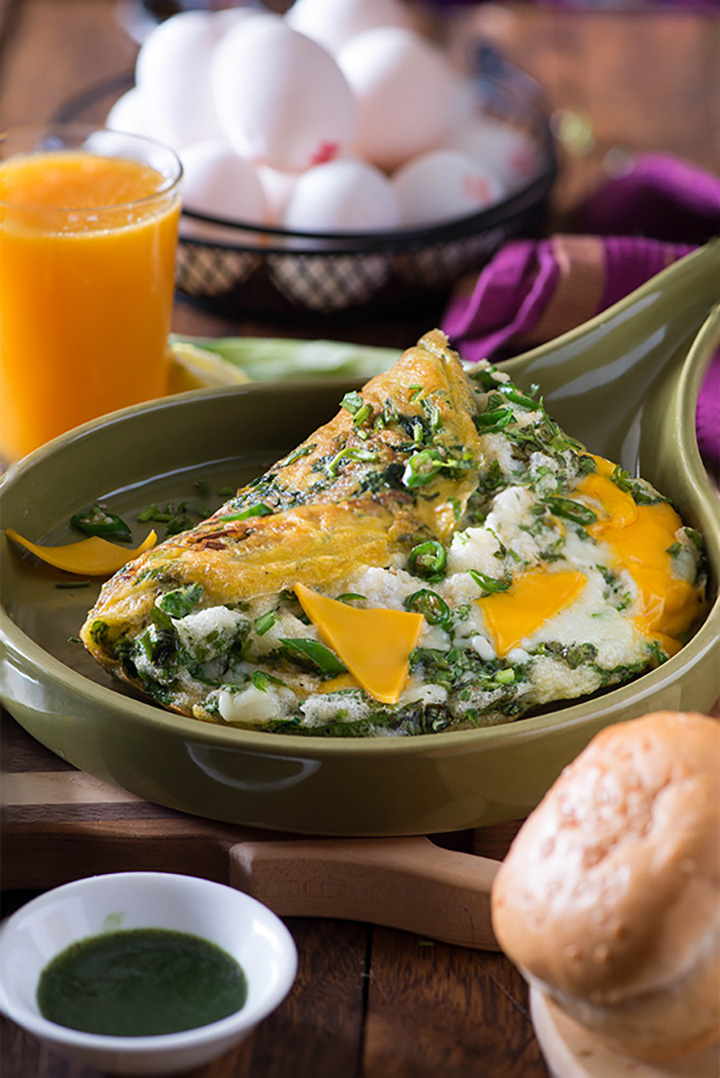 Healthy Spinach Omelette