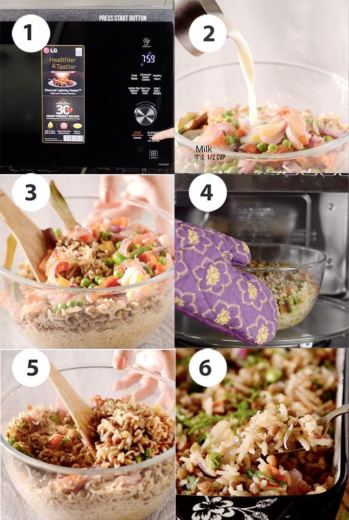brown rice pulav recipe step 3