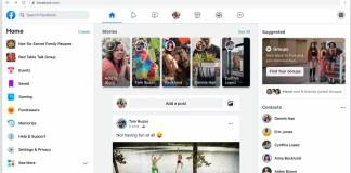 facebook new website design