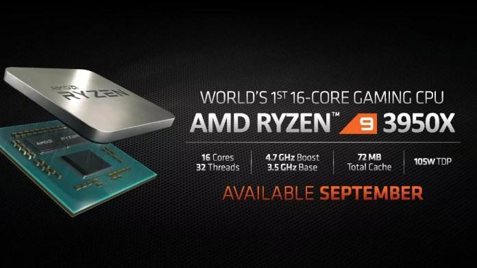 AMD Ryzen 9 3950X specification