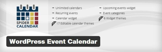 wordpress enent  calendar