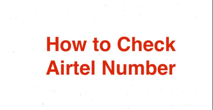 How to Check Airtel Number - Airtel Number Dekhar Code