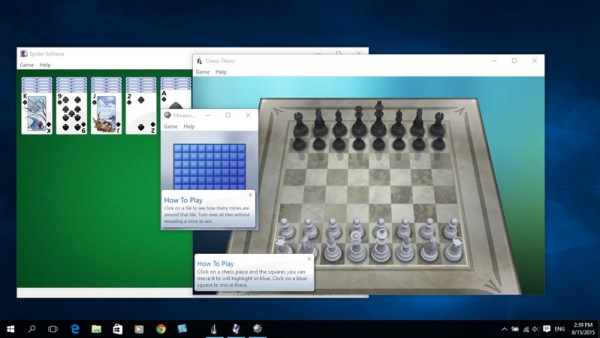 How to bring Windows 7 Classic Games to Windows 10?
