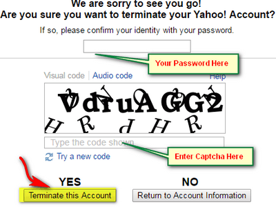 Permanently Delete Yahoo Mail Account
