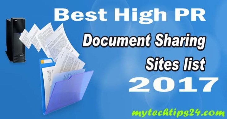 Best Document Sharing Sites List 2019 – High PR