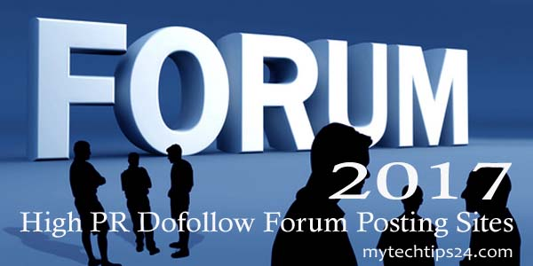 High PR Dofollow Forum Posting Sites List 2020