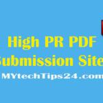 Best High PR PDF Submission Sites list 2018