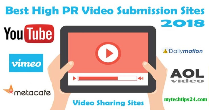 Top 10 Best High PR Video Submission Sites 2019