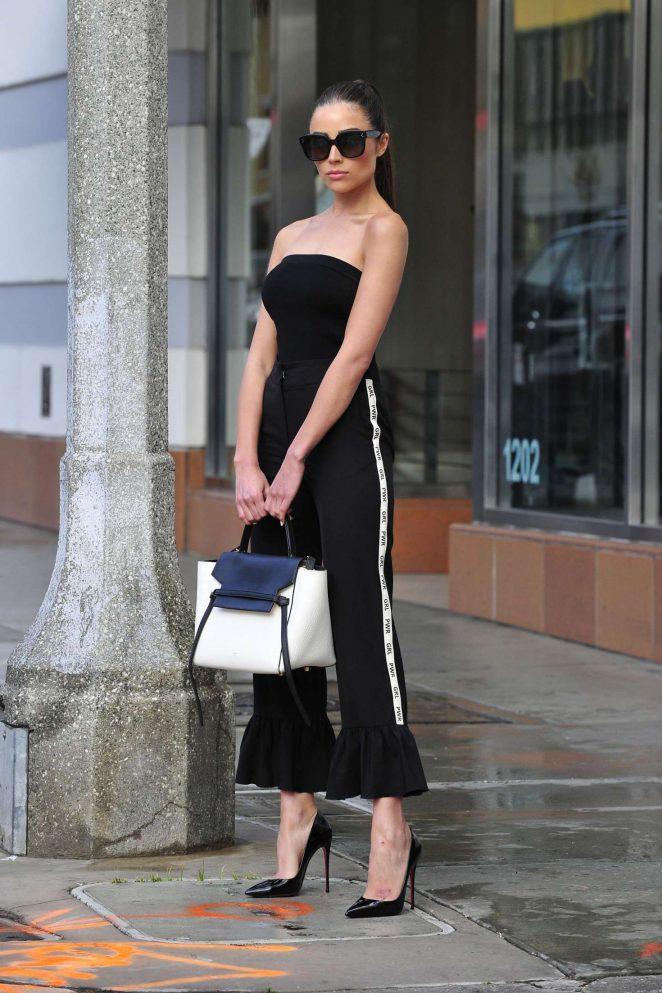 Olivia Culpo on her way to dinner in Santa Monica