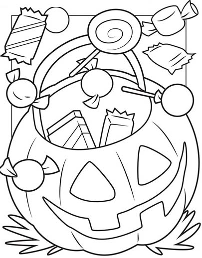 Happy Halloween Coloring Printable Pages