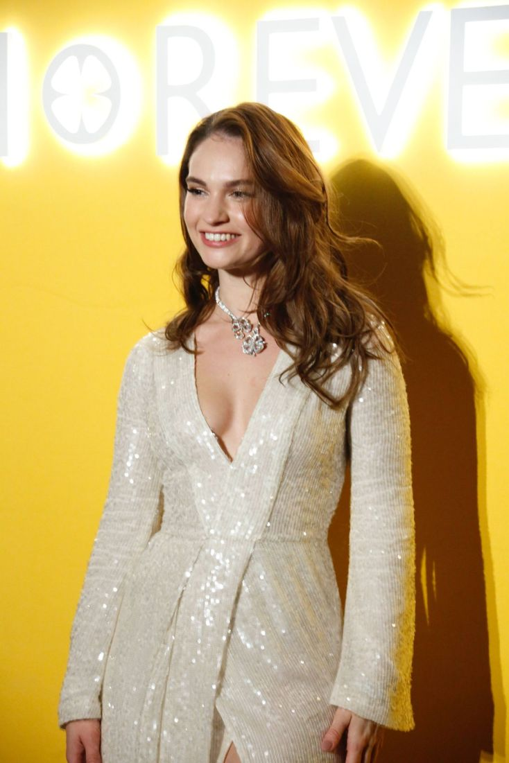 Lily James – Bvlgari's Fiorever Jewelry Collection Press Conference in Beijing