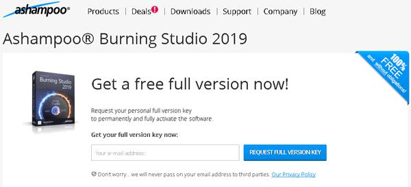 Ashampoo Burning Studio 2019 License