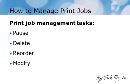 How to Manage Print Jobs from Command Line