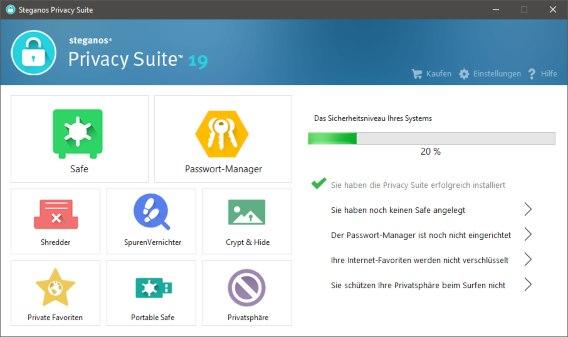 Steganos Privacy Suite 19 License Key Free Download Full Version