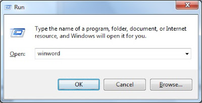 How to Run Command for Microsoft Word