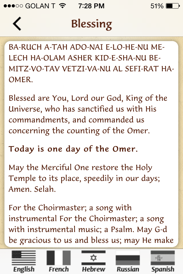 Counting The Omer 2015