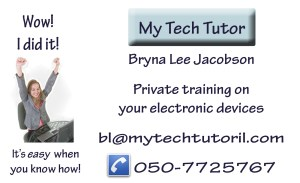 I did it myself. My business card. I did it myself. My business card. I created it in Photoshop. My Tech Tutor Business card