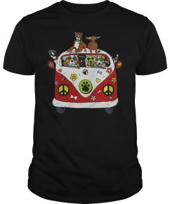 Hippie Car and dogs shirt