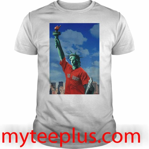 Red Sox Statue of liberty shirt