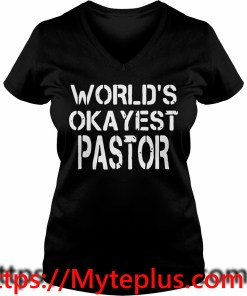 World's okayest pastor V-neck