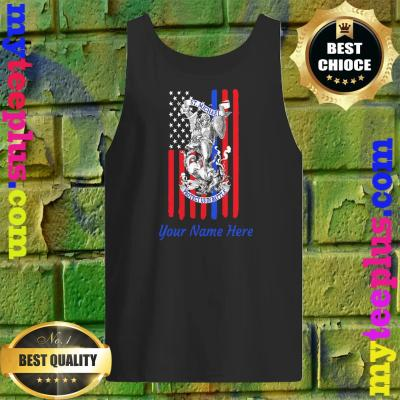 Personalized Patriotic St Michael The Archangel Prayer Flag Adult tank top