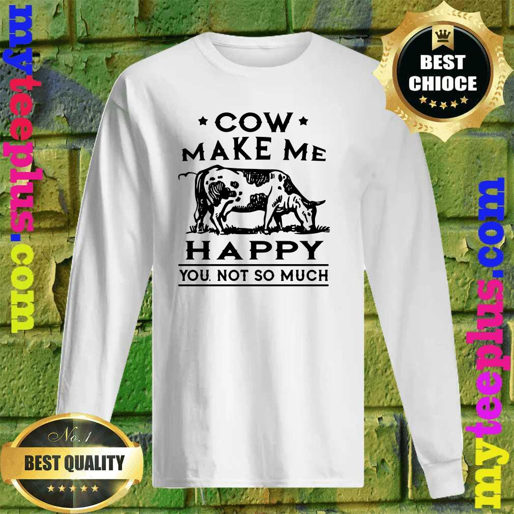 Cows Make Me Happy You,Not So Much Printed Newborn Baby Boy Girl Jumpsuit Long Sleeve Rompers Black