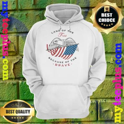 Eagle Land Of The Free Because Of The Brave hoodie